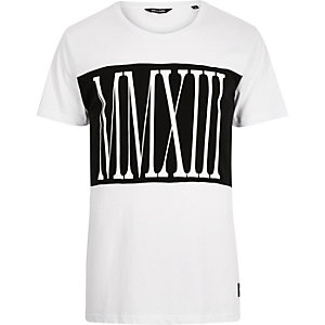 White Only & Sons Roman numerals t-shirt