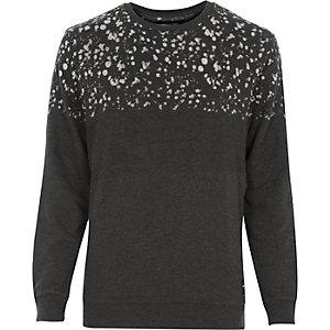 Grey Only & Sons dapple print jumper