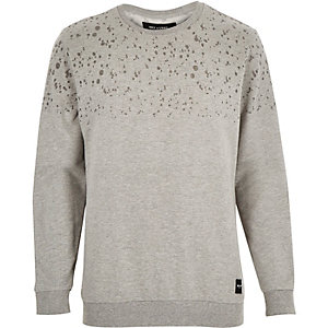 Grey Only & Sons dapple print jumper