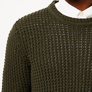 Green Only & Sons crew neck jumper