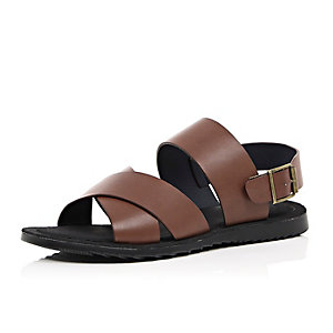 Brown back strap sandals