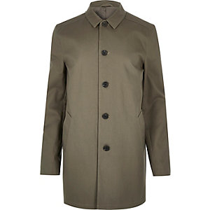 Grey smart button up overcoat
