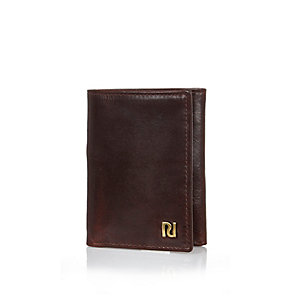 Dark red three fold wallet