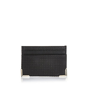 Black perforated cardholder