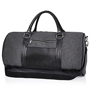 Grey jersey holdall bag