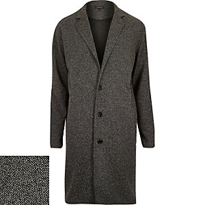 Black knitted duster coat