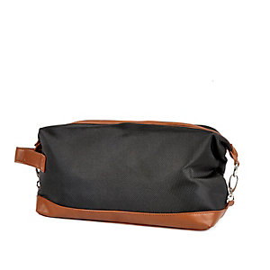 Light grey contrast trim washbag