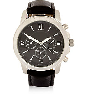 Black Roman numeral watch