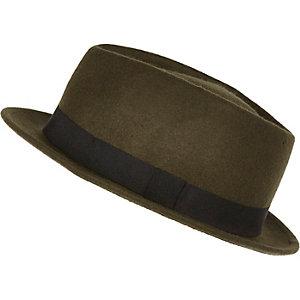 Green pork pie hat