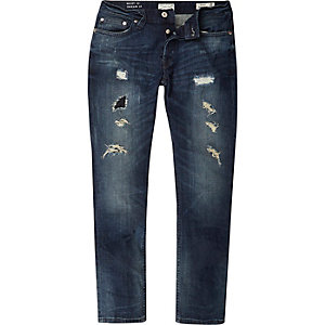 Dark wash ripped Only & Sons regular jeans