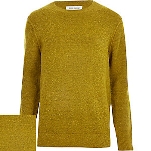 Mustard yellow bouclé jumper