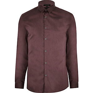 Purple stretch slim shirt