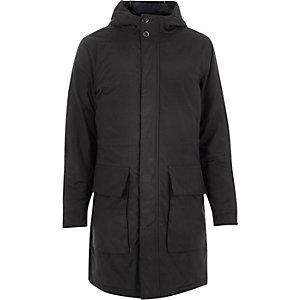 Navy padded hooded winter coat