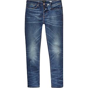 Mid wash blue Sid skinny stretch jeans