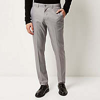 Graue elegante Slim Fit Hose