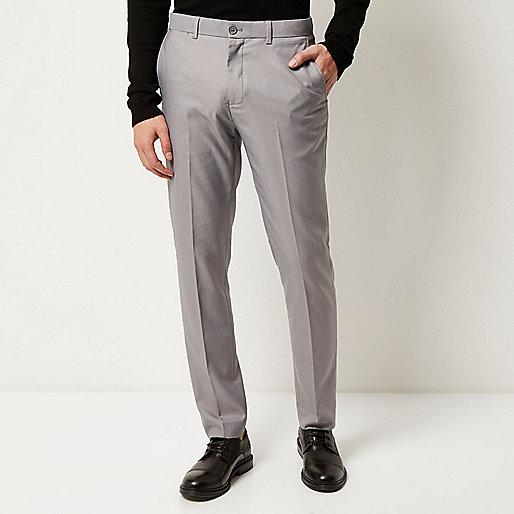 Graue elegante Slim Fit Hose
