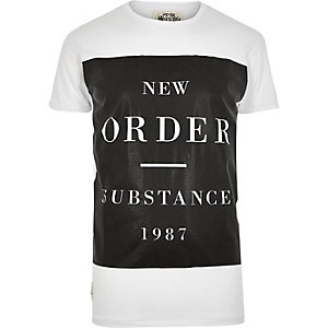 White Worn By New Order t-shirt