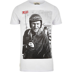 White Worn By Life Steve McQueen t-shirt