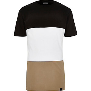 Black Antioch colour block t-shirt
