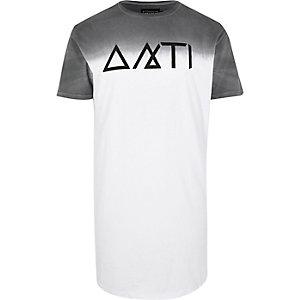 White Antioch faded longline t-shirt