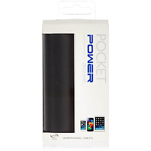 Black Power Bank Bank portable charger