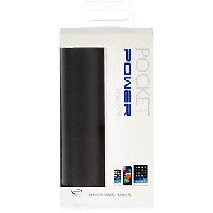 Black Power Bank Bank portable charger