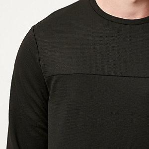 Black textured side zip top