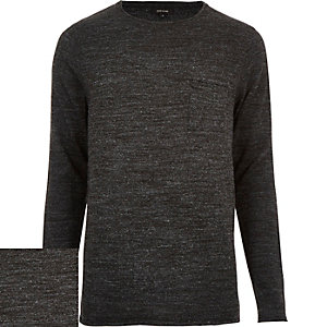 Black pocket front jumper