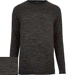 Black pocket front sweater