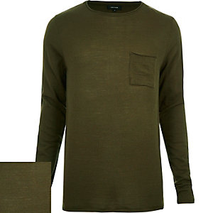 Dark green pocket front jumper