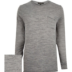 Light grey pocket front jumper