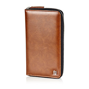 Brown travel document holder