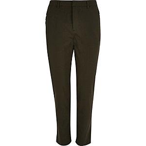 Khaki green smart skinny pants