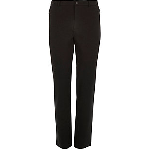 Black smart jersey skinny trousers