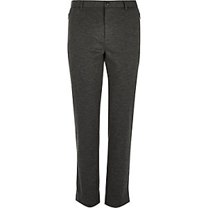Dark grey smart jersey skinny trousers