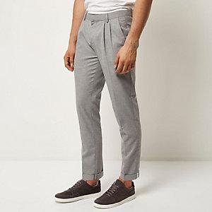 Grey smart slim pants