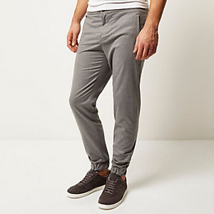 Grey elasticated hem joggers