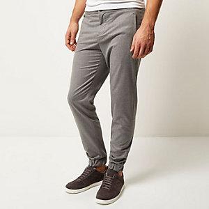Grey elasticated hem joggers