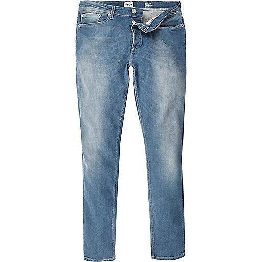 Mid blue wash Sid skinny stretch jeans