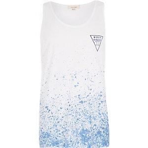 Blue paint splatter print vest