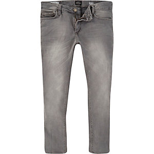 Grey cropped Sid skinny stretch jeans