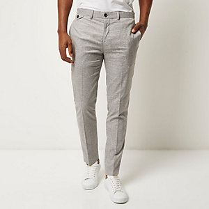Light grey smart skinny pants