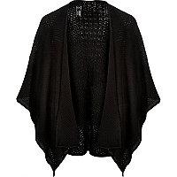 Black textured mesh cape