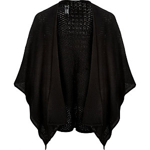 Black textured mesh cape