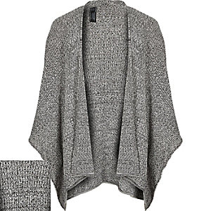 Grey textured mesh cape