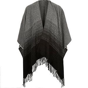 Black woven ombré cape