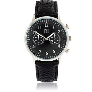 Black smart logo watch