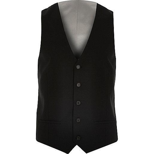 Black smart slim waistcoat