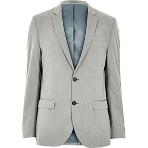 Graue Slim Fit Anzugjacke