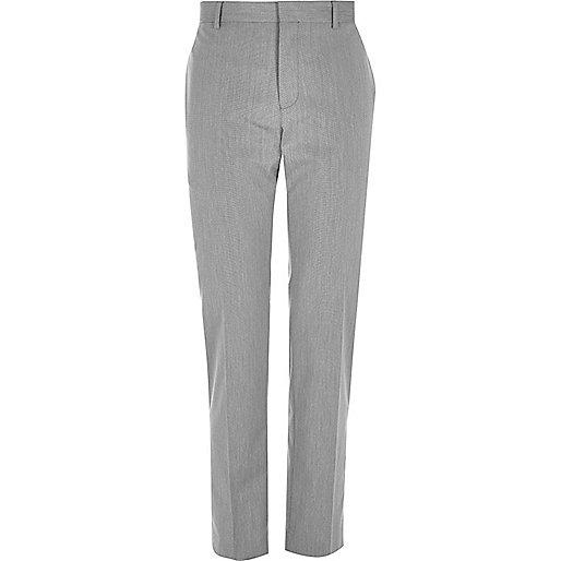 Grey smart slim trousers